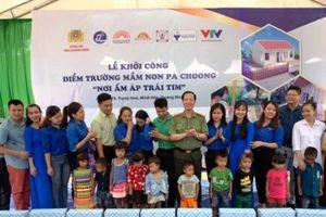 Công an tỉnh Quảng Bình và hội nghệ sỹ xây điểm trường tại Pa Choong