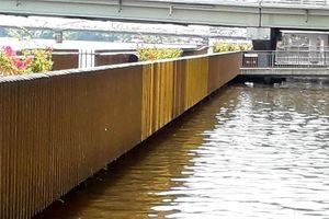 Lan can đồng ở cầu đi bộ lát gỗ lim siêu sang ở Huế nhanh xỉn màu: Đơn vị thi công phân trần
