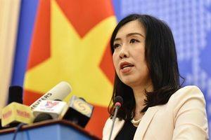 Bộ Ngoại giao: Tàu Hải Dương 8 rút khỏi EEZ Việt Nam