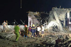 Hải Phòng: Sập giàn giáo xây dựng cây xăng khiến 1 người tử vong