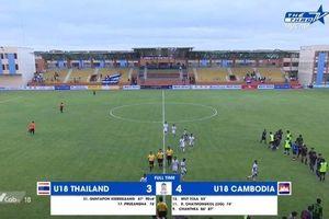 U18 Thái Lan thua sốc Campuchia, xuống cuối bảng 'tử thần'