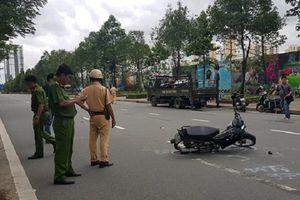 TP. HCM: Thiếu tá CSGT bị xe vi phạm tông trọng thương