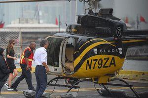 Kiều nữ '50 sắc thái' bị bắt gặp lên trực thăng cùng con của bạn trai