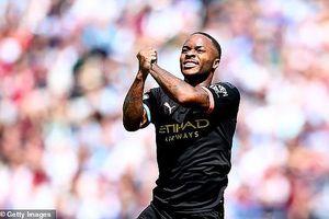 Sterling lập hat-trick, Man City vùi dập West Ham