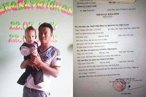 Cặp vợ chồng xứ Nghệ tự hào khi đặt tên con 'Trường Sa Hoàng Sa Việt Nam'