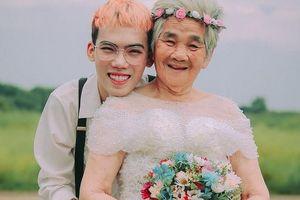Chuyện xúc động phía sau bộ ảnh bà nội 89 tuổi mặc váy cưới