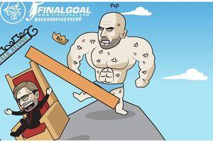 Biếm họa 24h: Guardiola đá bay Klopp khỏi ngôi đầu Premier League