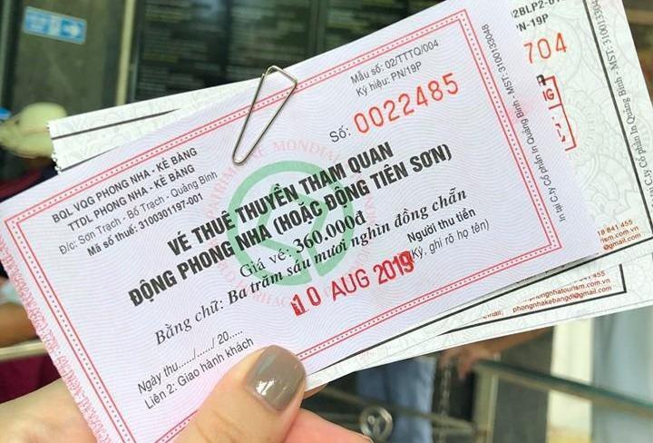 Du khách bức xúc vì giá vé vào động Phong Nha - Kẻ Bàng không rõ ràng