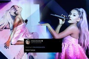 Fan than vãn vì ca khúc Needy quá ngắn, Ariana Grande lên tiếng trả lời: 'Vậy thì nghe 2 lần đi'