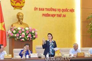 Khai mạc Phiên họp thứ 36 UBTVQH: Chủ tịch Quốc hội đề nghị không sử dụng chai nhựa