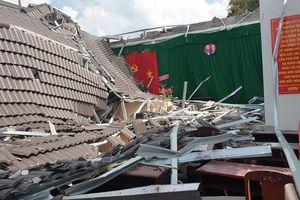 Hội trường tiền tỷ của UBND thị trấn mới khánh thành đã đổ sập