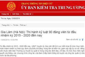 Gia Lâm (Hà Nội) kỷ luật 90 đảng viên, khai trừ đảng 9 trường hợp từ đầu nhiệm kỳ 2015 - 2020 đến nay