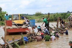 Đã cứu được đê vỡ ở Đắk Lắk