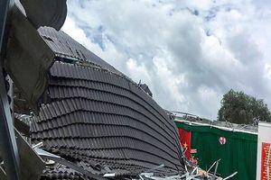 Đơn vị thi công nói về vụ sập mái hội trường thị trấn Ngã Sáu