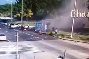 Xe container mất phanh gây họa cho nhiều người