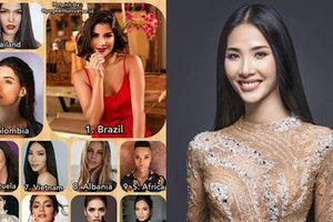 Bản tin Hoa hậu Hoàn vũ 14/8: Hoàng Thùy oanh tạc cùng lúc 3 bảng xếp hạng sắc đẹp quốc tế