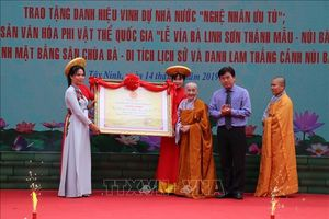 Lễ vía bà Linh Sơn Thánh Mẫu - núi Bà Đen được công nhận Di sản văn hóa phi vật thể quốc gia