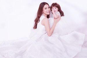 Trà Ngọc Hằng cùng con gái diện đầm công chúa xúng xính trong bộ ảnh thời trang