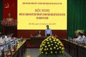 Khảo sát, đánh giá việc thực hiện Chỉ thị 39-CT/TW tại Hà Nội