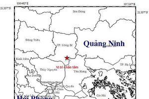 Trưa nay, động đất tại TP Uông Bí, Quảng Ninh