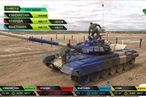 Chung kết giải đua xe tăng Tank Biathlon: tuyển Việt Nam chờ cơ hội bứt phá