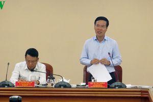 Trưởng Ban Tuyên giáo T.Ư Võ Văn Thưởng làm việc với TTXVN