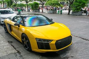 'Tình cũ' Audi R8 V10 Plus của Cường Đô la thay áo mới