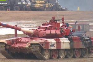Vượt trội các đối thủ, đội Nga giành chức vô địch Tank Biathlon