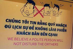 Quán ăn Sài Gòn nhắc khách 'đủ lịch sự để không làm phiền bàn bên'