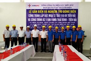 Đóng điện hai công trình dự án mở rộng nhà máy điện Thái Bình-Tiền Hải