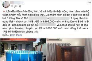 Đặt villa có hồ bơi Vũng Tàu giá 10 triệu, cô gái bức xúc nhận về căn hộ vừa bẩn, vừa xấu