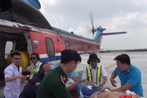 Trực thăng lại bay xuyên đêm cứu chiến sỹ đảo Sơn Ca