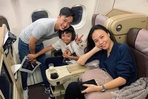 Cường Đô La đưa Đàm Thu Trang và con trai đi du lịch sau lễ cưới