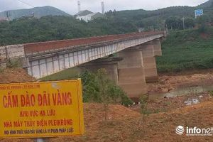 TP Kon Tum: Nạn khai thác vàng trái phép tại cầu Kroong đã được dẹp bỏ