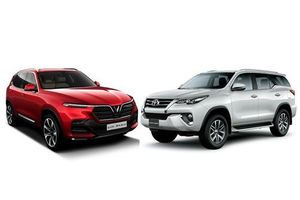 So sánh VinFast Lux SA 2.0 với Toyota Fortuner