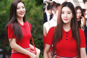 Joy (Red Velvet) đụng hàng váy đỏ với 'bản sao Irene' Kwon Eunbi (IZ*ONE), kẻ 8 lạng người nửa cân