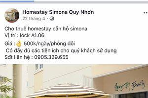 Bình Định: Bất chấp lệnh cấm, nhà ở xã hội 'biến' thành homestay
