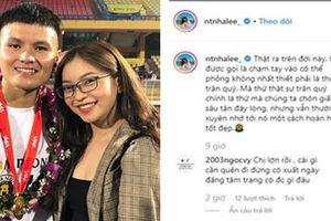 Vài ba ngày lại đăng status than thân trách phận, bạn gái Quang Hải bị bóc mẽ caption sống ảo toàn đi 'copy - paste'