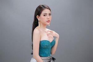 Á hậu Thủy Tiên xinh đẹp trong trang phục thời trang Châu Á