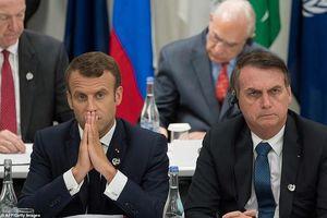 TT Macron 'nổi đóa' với TT Brazil vì lá phổi Amazon đang cháy