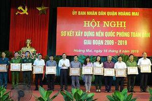 Quận Hoàng Mai: Sơ kết xây dựng nền quốc phòng toàn dân giai đoạn 2009-2019