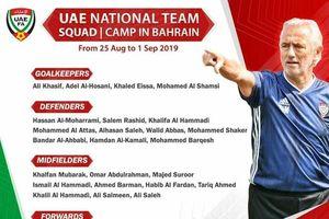 Chung bảng đấu với Việt Nam, tuyển UAE triệu tập 27 hảo thủ