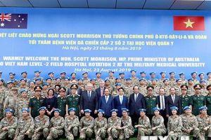 Thủ tướng Australia và Việt Nam thăm Bệnh viện dã chiến cấp 2 số 2