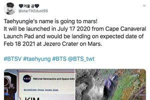 V (BTS) và thú cưng sẽ được gửi lên Sao Hỏa vào tháng 7 năm sau?