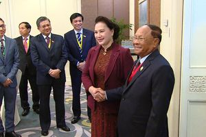 Chủ tịch Quốc hội Việt Nam và Chủ tịch Quốc hội Campuchia hội kiến