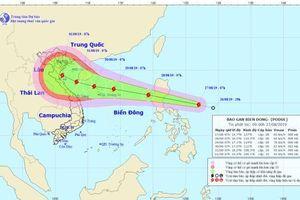 Áp thấp nhiệt đới đã mạnh lên thành bão Podul