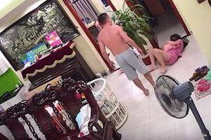 Phẫn nộ clip chồng võ sư đánh vợ mới sinh phải nhập viện