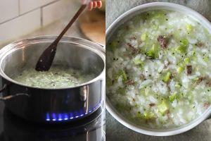 Mách mẹ nấu cháo thịt bò bông cải bổ sung vitamin cho bé yêu