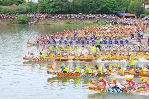 Lễ hội đua, bơi thuyền sông Kiến Giang là di sản văn hóa phi vật thể quốc gia