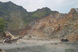 Ninh Bình: Tạm dừng hoạt động khai thác mỏ đá vôi đôlômit xã Kỳ Phú
